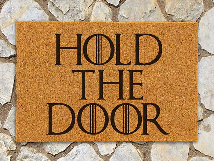 Game of Thrones Doormat Hold the Door Doormat - game of throne gifts