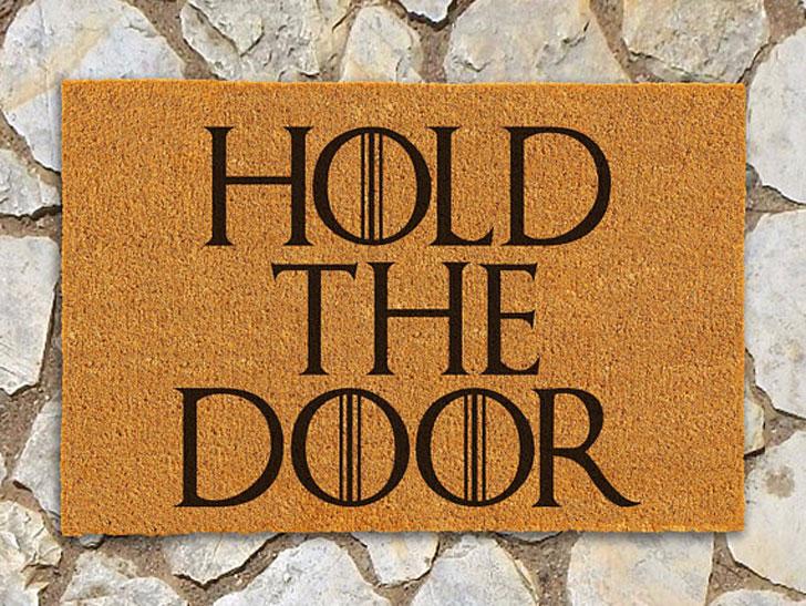 Game of Thrones Doormat Hold the Door Doormat - game of throne gifts