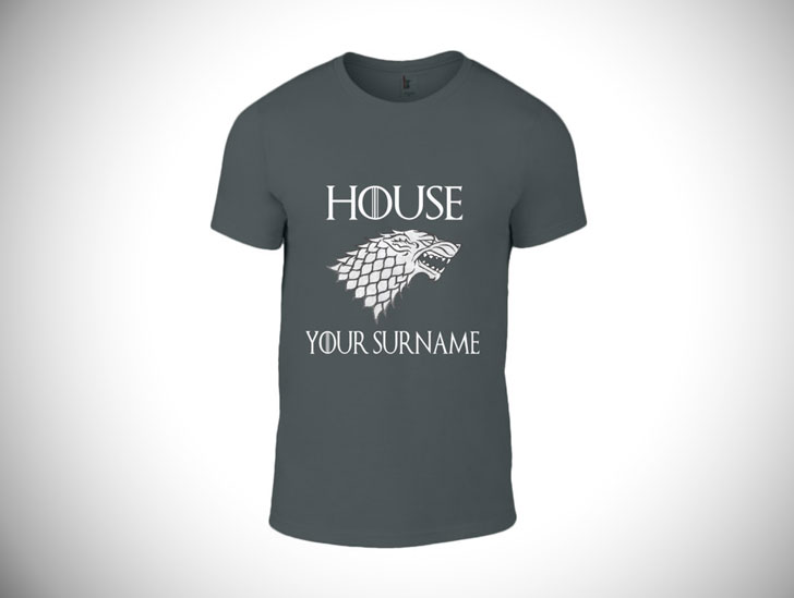 Game of Thrones Personalized House of Surname T-Shirt- game of throne gifts