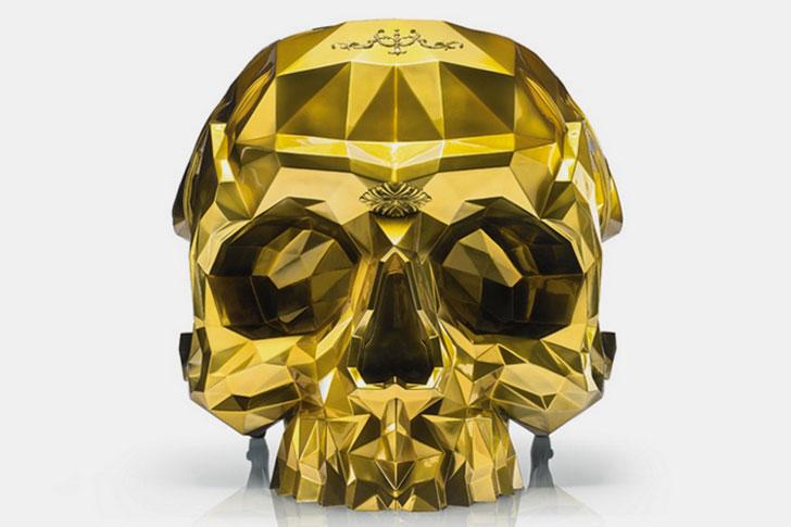 Gold Skull Arm Chair