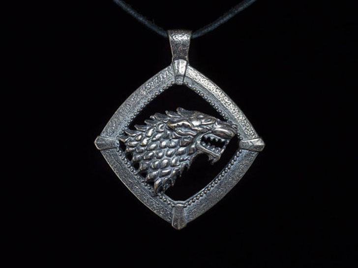 House Stark Direwolf Pendant