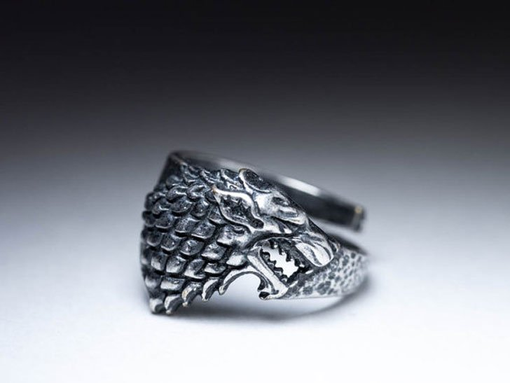 House Stark Direwolf Ring