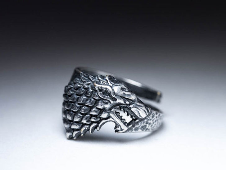 House Stark Direwolf Ring