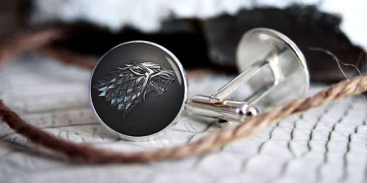 House Stark G.O.T Cufflinks - Cool Game Of Thrones Gift Ideas