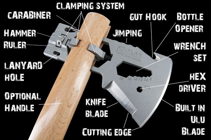 Klax Multi-Tool Axe Heads