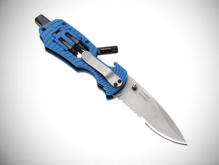 Light Up Tactical Multi-Function Pocket Knife