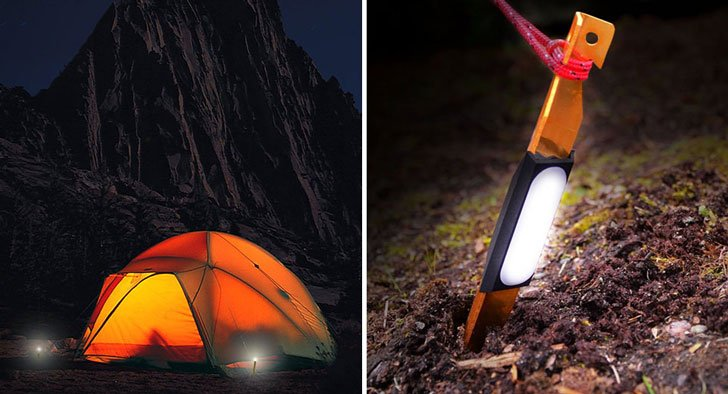 Light-up Tent Stakes