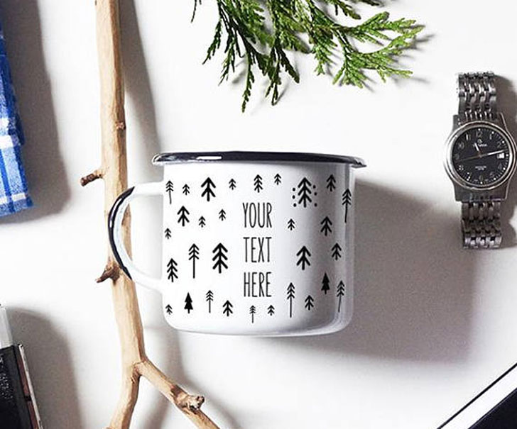 Personalised Enamel Camping Mugs