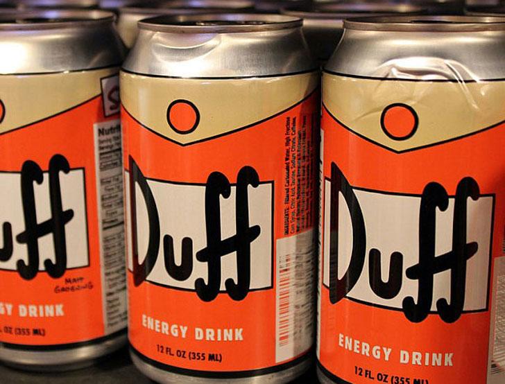 Simpsons Duff Energy Drinks