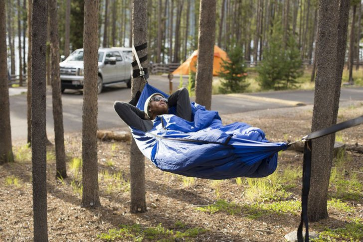 sleeping bag hammock - coolest camping gadgets