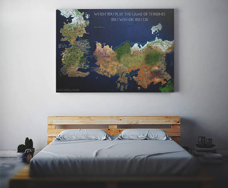 Westeros Map Bedroom Wall Poster