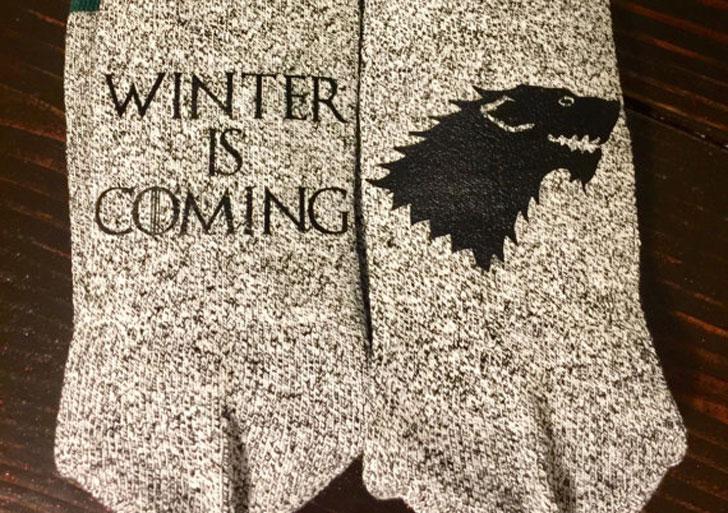 Winter Is Coming GOT Socks