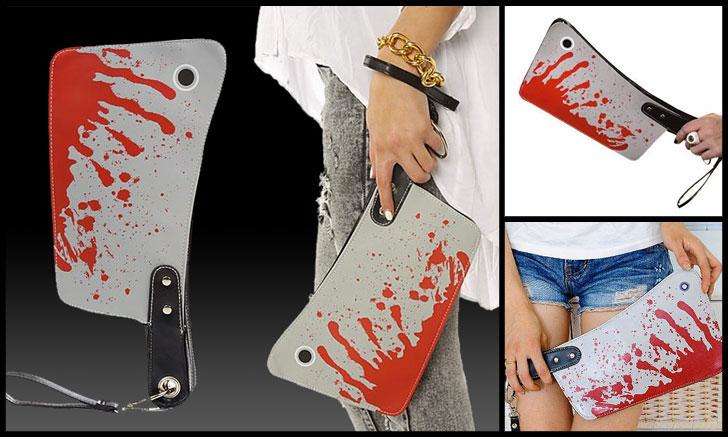 butchers cleaver purse