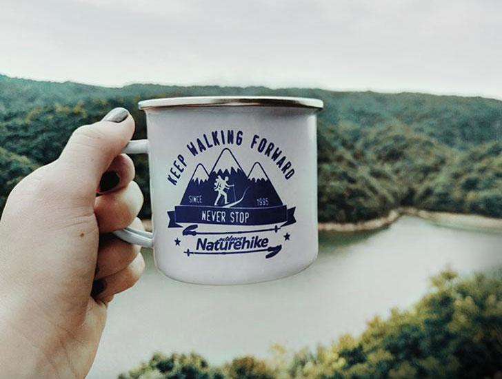 enamel camping mugs