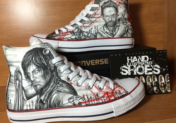 custom made walking dead shoes