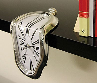 Designer Melting Clock