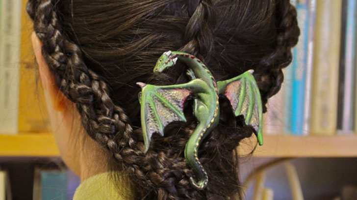 dragon hair barrette / clip - Cool Game Of Thrones Gift Ideas
