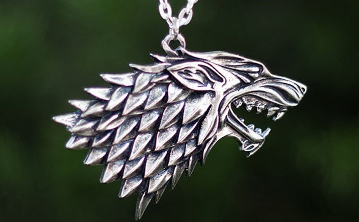 House Of Stark Necklace Pendant - Cool Game Of Thrones Gift Ideas