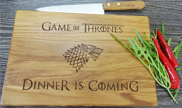 Dinner Is Coming Cutting Board - Cool Game Of Thrones Gift Ideas