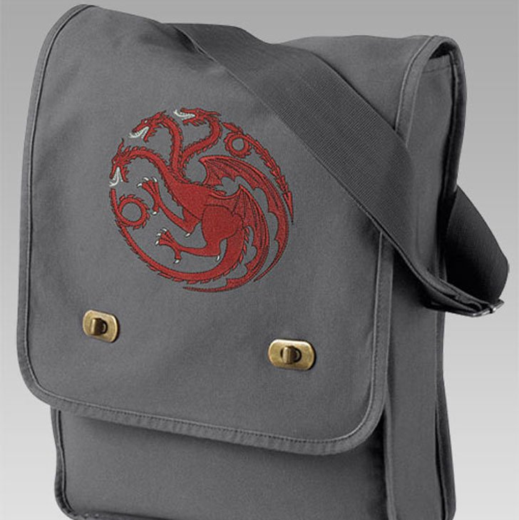 Embroidered Canvas Field Bag - Cool Game Of Thrones Gift Ideas