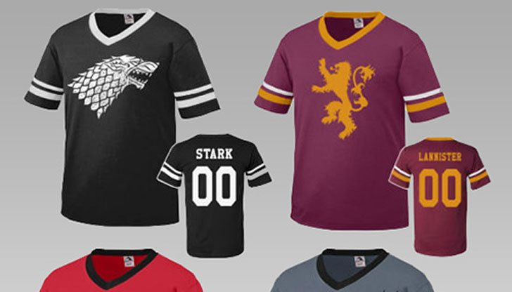 G.O.T Inspired Team Jerseys - Cool Game Of Thrones Gift Ideas