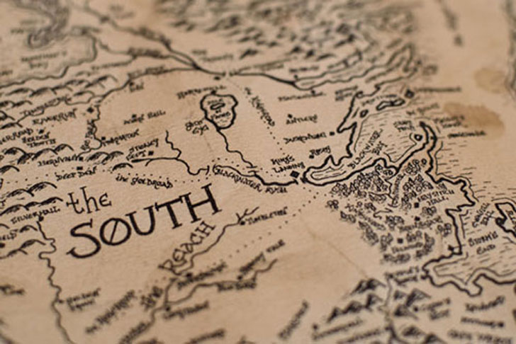 aged westeros map - Cool Game Of Thrones Gift Ideas