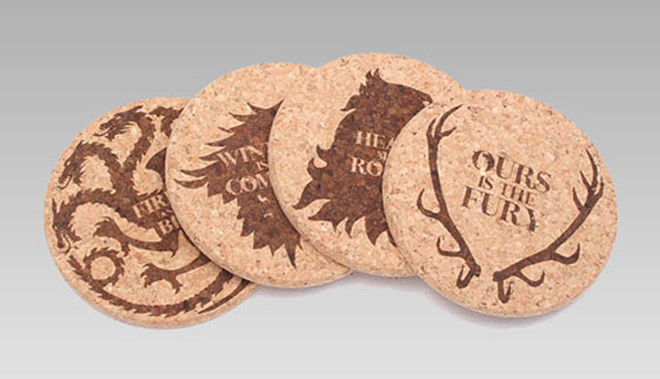 game of thrones Cork Coasters - Cool Game Of Thrones Gift Ideas