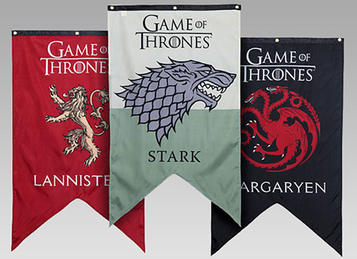 Game Of Thrones Banners - Cool Game Of Thrones Gift Ideas