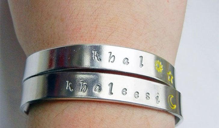 khal & khaleesi hand stamed bracelets - Cool Game Of Thrones Gift Ideas