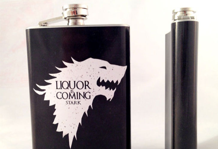 Liquor Is Coming Flask - Cool Game Of Thrones Gift Ideas