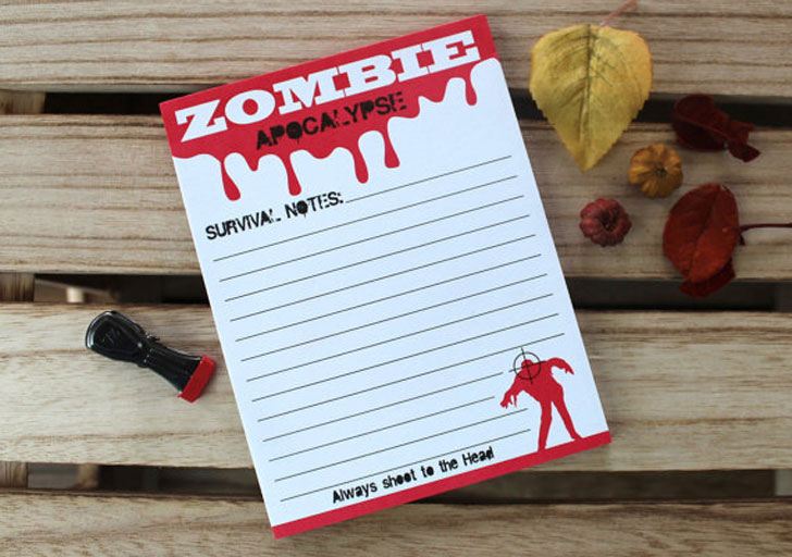 zombie note pad