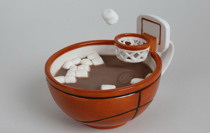 Basketball Mug With Hoop