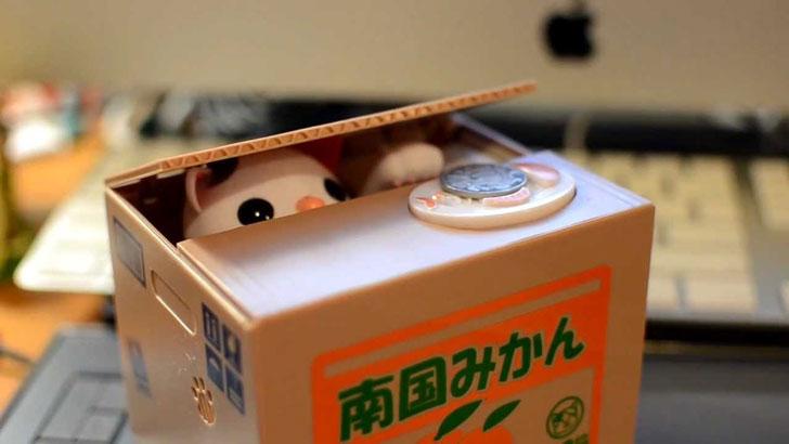 Coin Stealing Cat Money Box