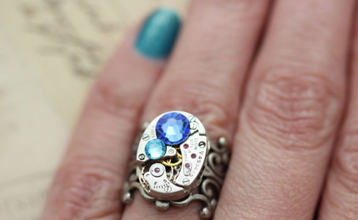 Custom Made Steampunk Rings