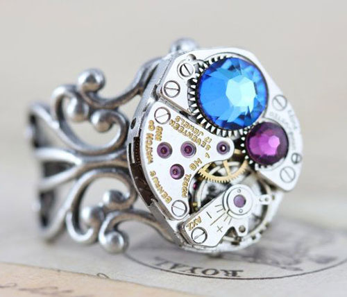 Custom Made Steampunk Rings