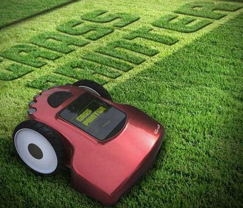 Grass Printer Lawn Mower