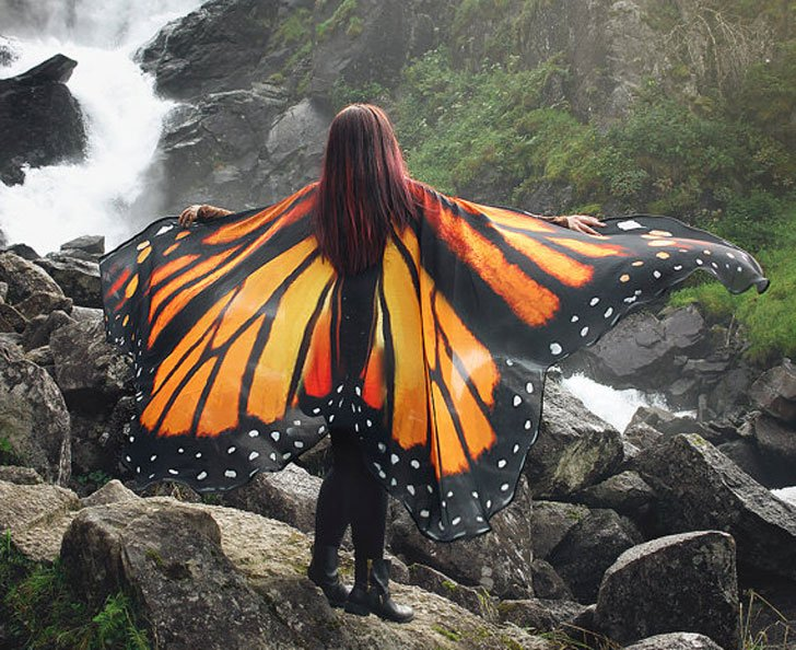 Handcrafted Butterfly Cloak