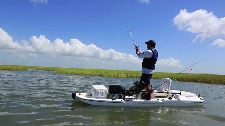 Jet powered fishing kayak awesome stuff 365 for Jet fishing boats for sale