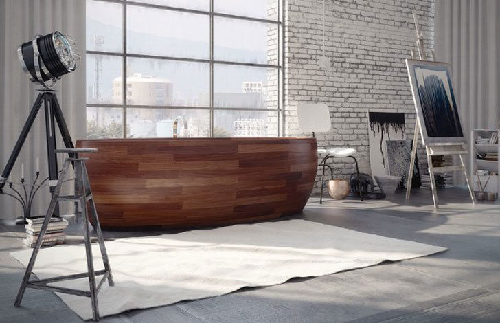 Bon Wooden Boat Bathtub
