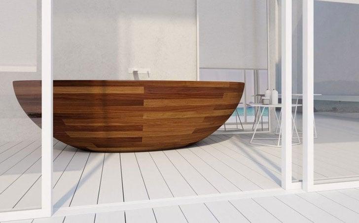 Wooden Boat Bathtubs