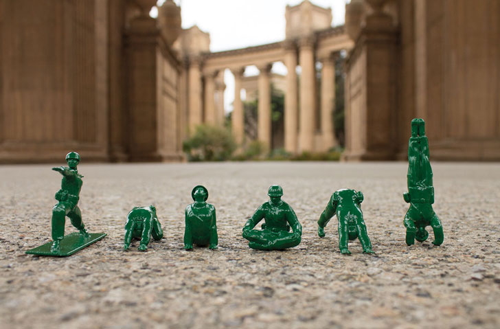 Yoga Pose Green Army Men - creative gifts for boyfriends