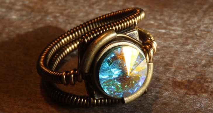 Aurora Borealis ring - Steampunk Gifts For Her