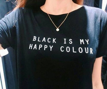 Black Is My Happy Colour T-Shirt