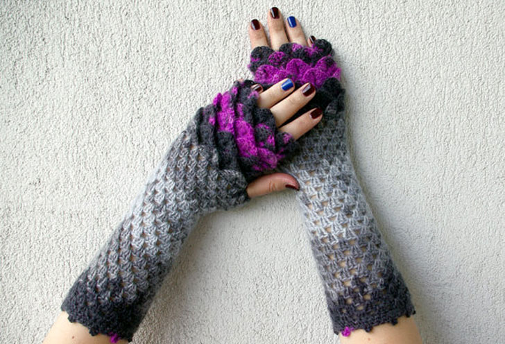 Fingerless Steampunk Wrist Warmers - Steampunk Gifts For Her