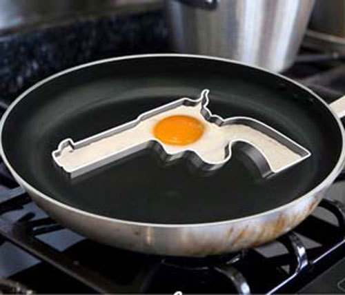 Handgun Frying Egg Mold