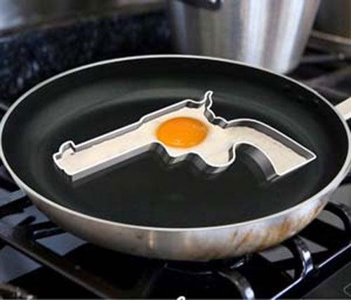 Handgun Frying Egg Mold