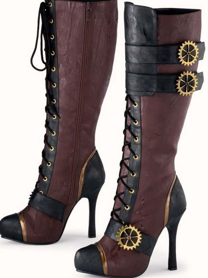 Knee high Steampunk Boots - Steampunk Gifts For Her