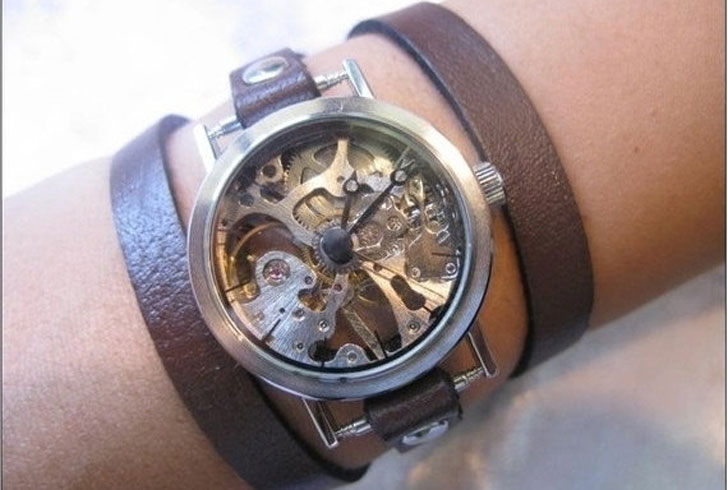 Mechanical Steampunk Watch Bracelet - Steampunk Gifts For Her