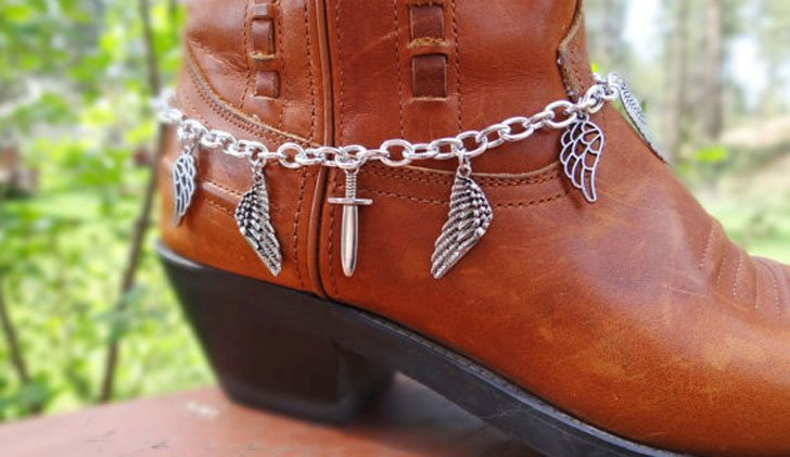 Silver Wing & Sword Boot Bracelet - Steampunk Gifts For Her
