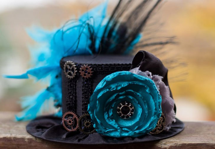 Steampunk Mini Top Hat - Steampunk Gifts For Her